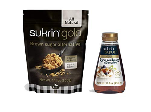 Sukrin Gold and Syrup Bundle - Low Carb Keto Brown Sugar and Syrup Alternative (Gold)