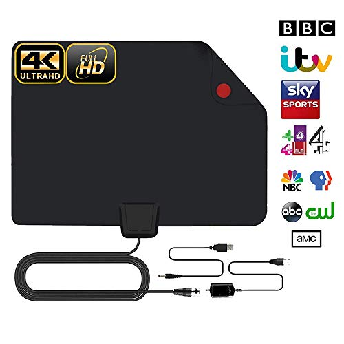 Antena Interior TV, Antena de TV Digital HD para Interiores