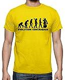 latostadora - Camiseta Contrabajo Evolucin para Hombre Amarillo limón L