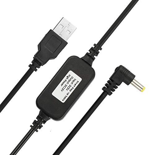 USB 5 V auf DC 12 V Stromkabel, kompatibel mit Amazon Echo Spot und Echo Dot 3. Generation, USB Spannung Step Up Konverterkabel, Netzteil Adapterkabel, DC 5 V auf DC 12 V Kabel (schwarz)