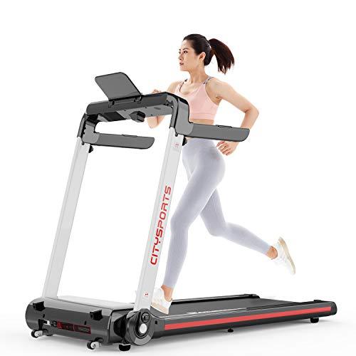 Laufband, Elektro-Laufband mit 1400 W Motor, einstellbare Geschwindigkeit 1-15 km/h, einfach zu bedienendes elektrisches Laufband, bequemes Fitnessgerät