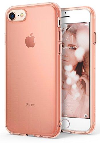 Ringke Funda iPhone 7 / iPhone 8, [Air] Sin Peso como el Aire, del Caso Ligero Delgado Suave Transparente Arañazos TPU Flexible Protectora para Apple iPhone 7 - Rose Gold Crystal