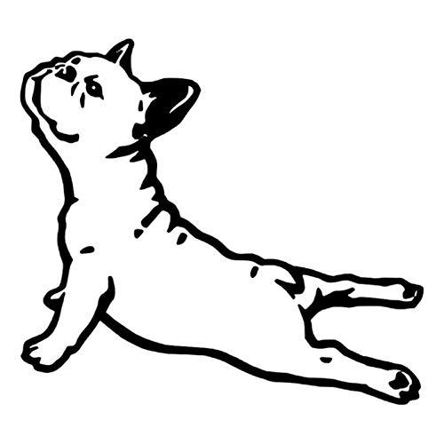 Pegatinas de coche 16,1 cm * 14,7 cm Bulldog Francia Animal coche pegatina perro mascota dibujos animados coche estilo vinilo negro / plata 2 uds