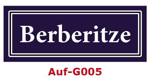15 Stück Gewürzaufkleber Berberitze 40x16mm Gewürzetiketten Sticker Lebensmittel (Auf-G005)