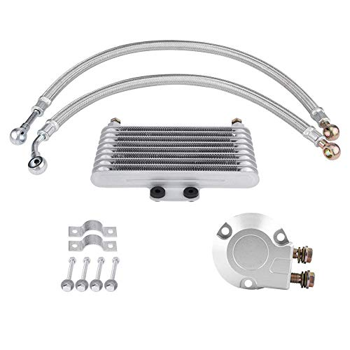 Duokon motorfiets 125ml aluminium motorolie koeler koeler kit voor EN GN GSX motor zilver Horizontal default