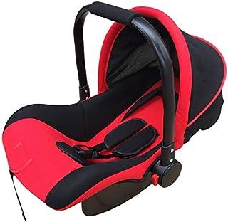 MVDWWH Seguro y cómodo Bebé Cesta de Coches Asiento de Seguridad para niños Coche para niños Asiento de niño bebé 0-12 Meses Una Cuna cómoda para el bebé. (Size : Red Black Big Mat)