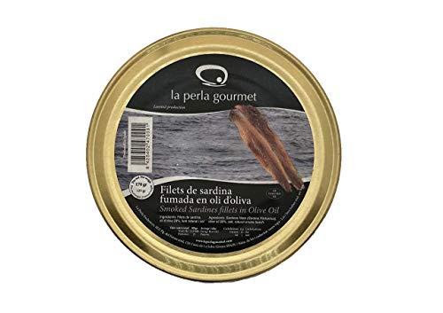 Filetes de Sardina Ahumada en aceite de oliva (170g) pack 3 unidades (510g) La Perla Gourmet