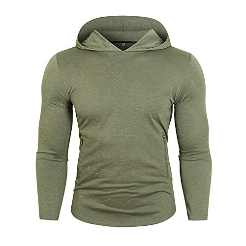 SSBZYES Camisa Deportiva para Hombre Camiseta De Manga Larga Camiseta Casual con Capucha De Manga Larga para...