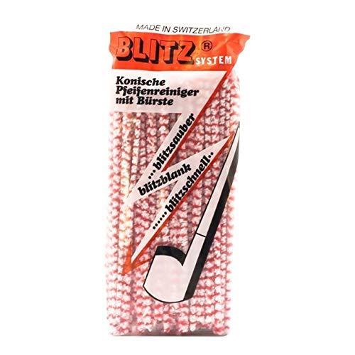 5 X Blitz Bürsten-Pfeifenreiniger rot-weiß