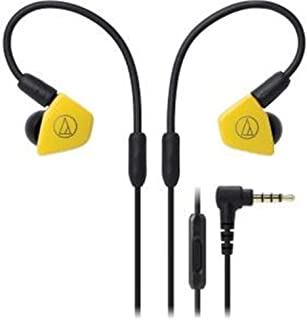 Audio-Technica ATH-LS50iSYL levande ljud in-ear hörlurar gul