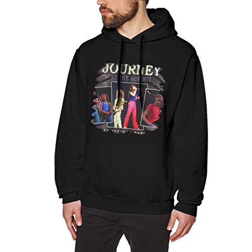 Evmjser Steve Perry Men's Fashion Long Sleeve Hooded Sweatshirt Tops Black S