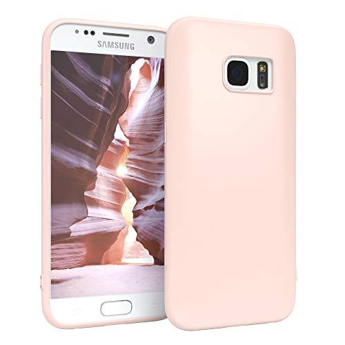 EAZY CASE Handyhülle Silikon mit Kameraschutz kompatibel mit Samsung Galaxy S7 in Hellrosa, Rosa, Ultra dünn, Slimcover, Silikonhülle, Hülle, Softcase, Backcover