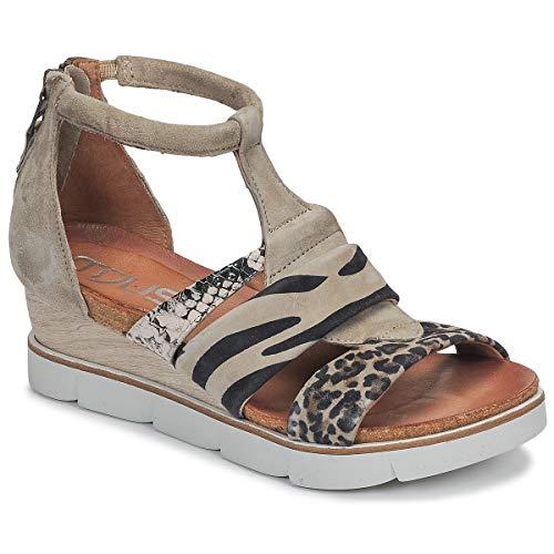 Mjus Tapasita Sandalen/Sandaletten Damen Maulwurf/Leopard - 38 - Sandalen/Sandaletten Shoes