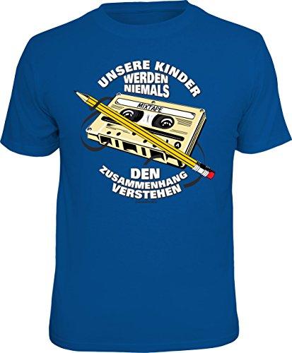 T-Shirt: unsere Kinder Werden Niemals den Zusammenhang verstehen - Warum wir Bandsalat bei Musikkassetten mit dem Bleistift aufrollen mussten… Größe XL