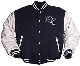 0b5137c789fc NY Chaqueta de Béisbol M. Patch, color Azul Marino/Blanco