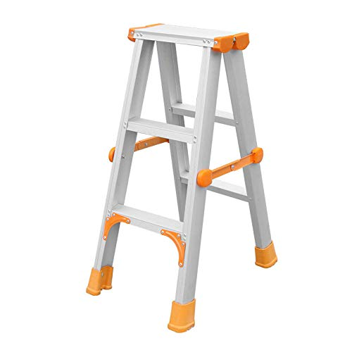 TAYIBO Mehrzweckleiter Anlegeleiter Klappleiter Stehleiter Aluminium,Leiter Haushaltsklapp, Aluminiumlegierung Zwei oder DREI Stufen, dickere Leiter -3_Schritte