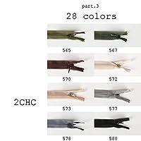 ファスナー YKKファスナー YKKコンシールファスナー 樹脂ファスナー 1本から対応 22cm/56cm 2サイズ&28色展開 2CHCファスナー