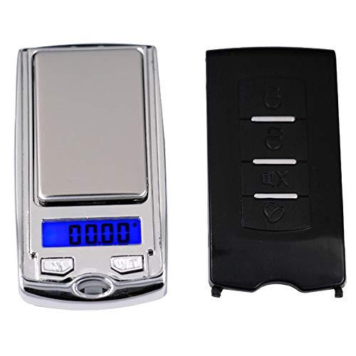 Báscula de cocina digital 100g * 0.01g mini LCD electrónico Digital Pocket Scale Jewelry Gold Weighting Balance en el estilo de la llave del coche