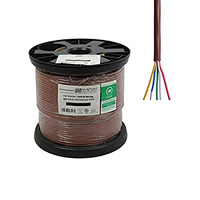 20/5 Solid, HVAC-Thermostat Cable, UL/ETL CL3R/CMR/FT4, 20AWG 5 Pure Copper Conductors, Indoor/Outdoor UV Resistant RoHS Brown 500ft Spool