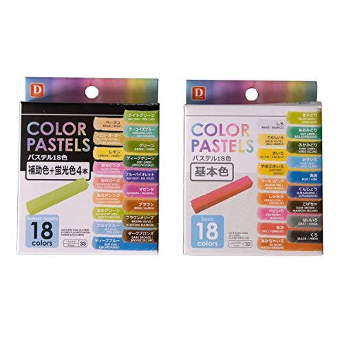 Giz Pastel Seco 36 Cores Basic e Fluorescente Pintar/Colorir