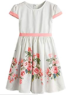 Girls Kids Soft Summer Short Sleeve Sundress Casual Toddler Tutu Party Dress