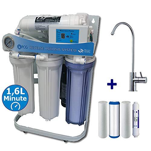 PUR Booster - Sistema de ósmosis inversa de flujo directo, 5 niveles, 600 GPD, incluye filtro de repuesto
