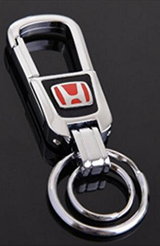 Au-Tomotive Gold Honda Element Black Leather Key Chain INC