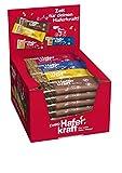 Corny Haferkraft Mix-Box, Kakao, Banane, Blueberry-Chia und Cranberry Kürbiskern Haferriegel, 24er Pack (24 x 65g Riegel)