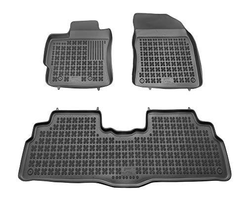 Alfombrillas de Goma Compatible con Toyota Verso (2009-2018) + Limpiador de Plasticos (Regalo) | Accesorios Coche Alfombrilla Suelo