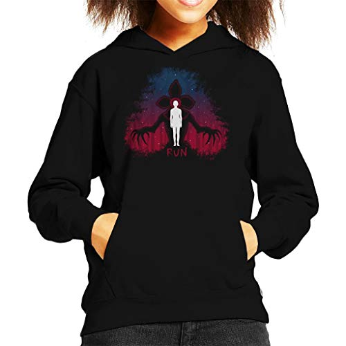 Cloud City 7 Stranger Things Demogorgon Run Kid's Hooded Sweatshirt
