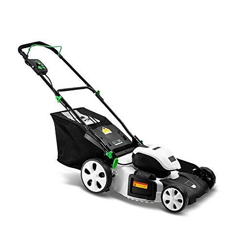 Erweiterte E-Akku-Mäher, 0Ah Batterie Cordless Tragbarer Mower, Schnittbreite 457mm, 7 Einstellbare Schnitthöhe, 60L Grass Box, Switch Versicherungen, Gebrauchtwagen for Garten, Bauernhof Jäten