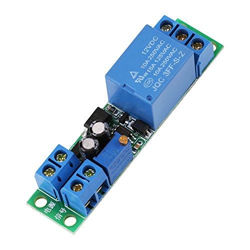 1 stück Zeitverzögerung Relaismodul DC 12 V Einstellbare Zeiten Schalter Modul Signal Trigger Ausschalten Timer Verzögerung Schalter Modul 0~25 Sekunden Zeitverzögerung