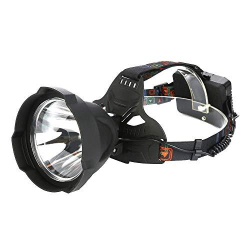 WPCBAA Super heldere 15000 lums, USB-oplaadbare led-koplamp, koplamp, krachtige waterdichte buitenverlichting, koplamp van 3 x 18650 batterij