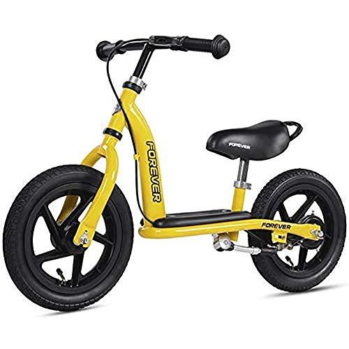 WXX 2-6years Viejo niños Bicicleta de Equilibrio Ultra-Light Alta de Acero al Carbono de 12 Pulgadas Ajustable Manillar y el Asiento sin Pedal de Entrenamiento en la Bicicleta