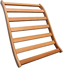 Dynamic Canadian Hemlock Sauna Backrest 2-pack 100% Natural Hemlock Wood Construction, S-Shape, No Stains, All Natural Finish (Backrest)