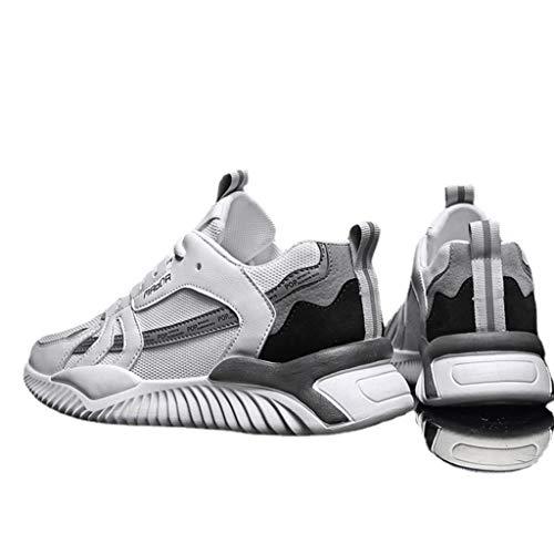 QINHE Zapatillas para Hombre Zapatillas para Correr Zapatillas Deportivas Ligeras y Transpirables para Caminar Zapatillas Deportivas para Gimnasio Zapatillas de Tenis Transpirables para Ocio,White-42