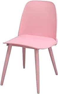 Bar Stools CONGMING Bar Stools Nerd Replica Design Retro Modern Muuto Scandinavian Bar Stools for Cafe Counter Kitchen Metal Legs Plastic Seat - Pink Stools for Kitchen Bar (Size : 45cm-Pink)