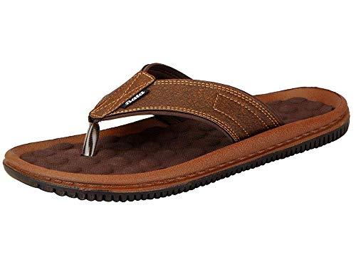 BATA Men's Brown Synthetic Slip On Slippers 871-4612-40