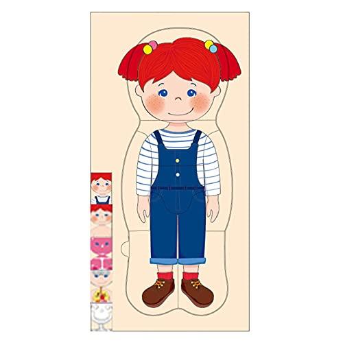 Holz-Anatomie-Puzzles Für Kinder Im Alter Von 4-8, 4 Schichten Junge Mädchen Körperstruktur Anatomie Montessori Puzzle Vorschulpuzzles Spiel, Pädagogisches Holz Menschliche Organe Modell Puzzle