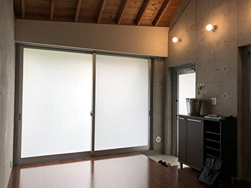 OIYEEFO窓めかくしシート窓用ガラスフィルムすりガラスシートすりガラス調水で貼ってはがせる飛散防止目隠しUVカット遮光シート貼り直し可断熱遮光オフィスのぞき防止無接着剤静電ペーストプライバシーガラスフィルム引き戸/窓ガラスのリメイクガラスフィルム目隠しシート(0.6MX4M)