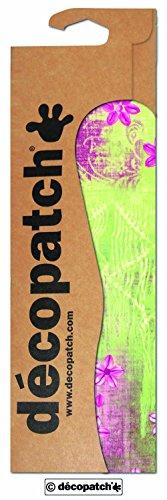 Decopatch papier nr. 384 (groene bloemetjes roze, 395 x 298 mm) 3-pack