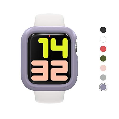 RhinoShield Bumper Case kompatibel mit Apple Watch Series 4/5 - [44 mm] | CrashGuard NX - Stoßabsorbierende Dünn Designte Schutzhülle 1.2M Fallschutz - Lavender