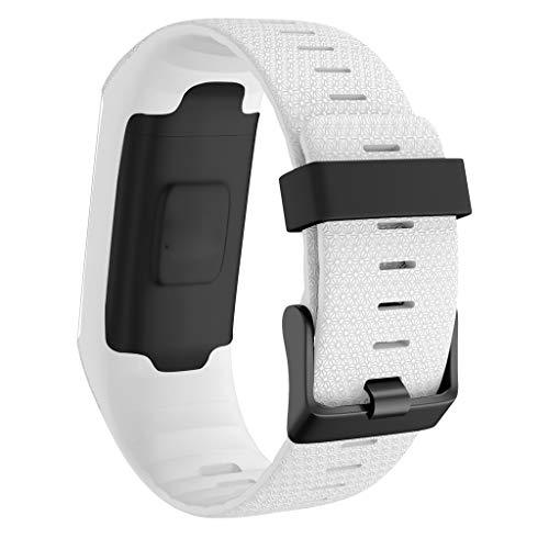 Armband für Polar A370 A360, Amuse-MIUMIU Mode Sport Silikon Uhrenarmband Smart Watch Band Armband Schnellverschluss Einstellbar Atmungsaktiv Band für Polar A370 A360 (Weiß)