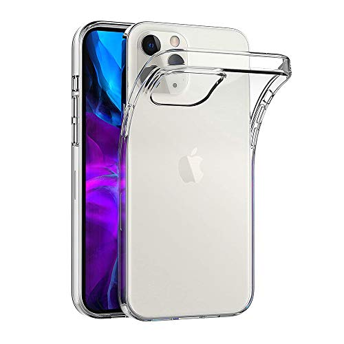 AICEK Hülle Compatible für Apple iPhone 12 / iPhone 12 Pro Transparent Silikon Schutzhülle für iPhone 12 Hülle Clear Durchsichtige TPU Bumper iPhone 12 Pro Handyhülle (6,1 Zoll)