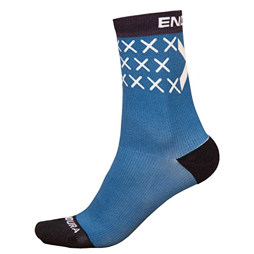Endura Socke Schottland Flagge - Blau/Schwarz Größe L/XL