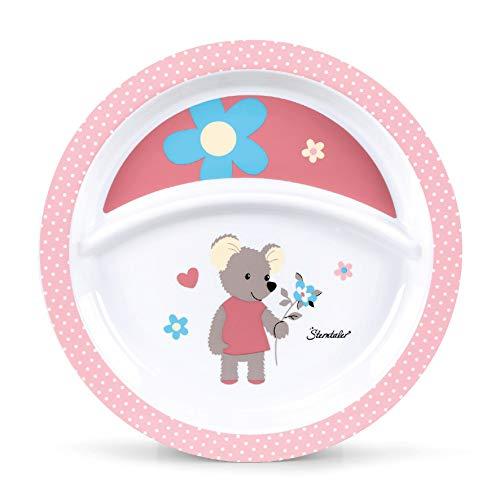 Sterntaler Assiette Bébé, Souris Mabel, Âge : Bébé dès 6 Mois, Rose/Multicolore