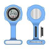 Vicloon Reloj Bolsillo Enfermera, Reloj Enfermera Digital Multifuncional,Puede Cronometrarse y Usarse como Despertador,Reloj Silicona Prendedor de Broche,Regalos para Medicos Enfermeras