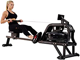 آلة التجديف SF-RW5713 أوبسيديان سيرج 500 ام من ساني للياقة البدنية والصحة للكبار من كلا الجنسين - لون أسود - قياس واحد