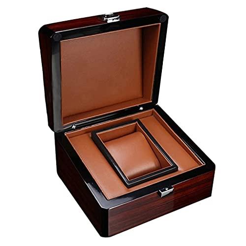 FCWMD Cajas de Reloj de Madera Vintage Colección de Reloj de Pulsera único Escaparate Cuadrado para exhibición de Tienda