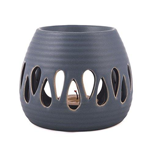 pajoma Keramik Duftlampe ''Simple'' in blau, Höhe 8 cm